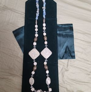 Handmade Cuban necklace with stones